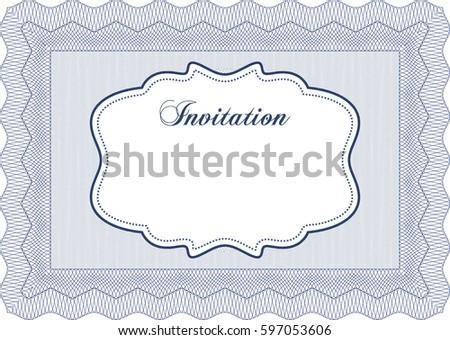 Vector illustration formal invitation template easy stock vector vector illustration of formal invitation template easy to edit and change colorswith pattern stopboris Gallery