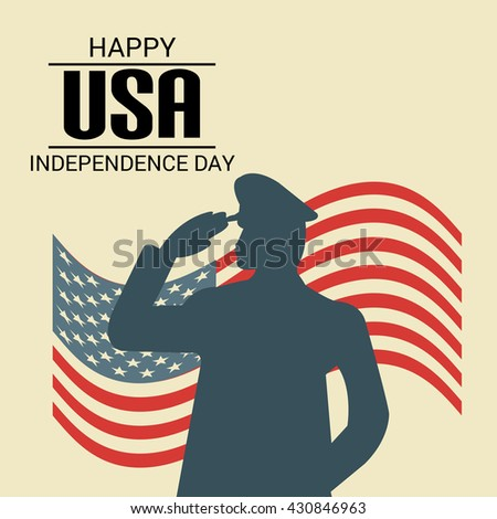 Vector illustration of Forth July USA Independence Day.