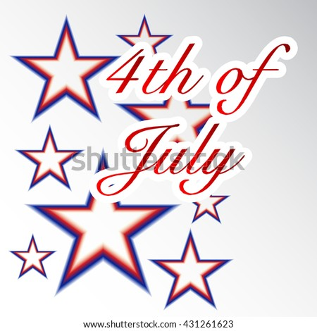 Vector illustration of Forth of July USA Independence Day.