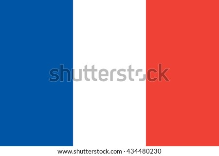 vector illustration of France flag original and simple in official colors and proportion correctly, isolated background - stock vector