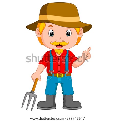 farmer cartoon stock images  royalty free images   vectors pitchfork clipart black and white devil pitchfork clipart