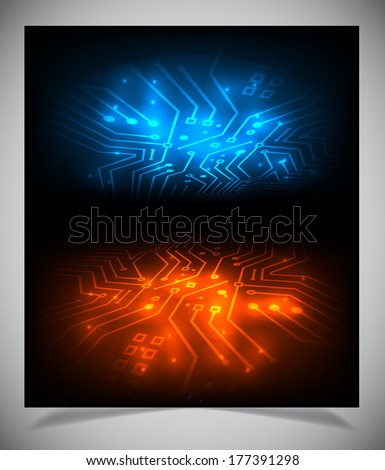 Vector illustration of futuristic abstract glowing background - stock vector