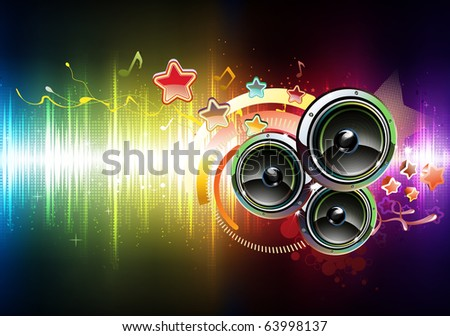 Vector illustration of futuristic abstract glowing party background - stock vector