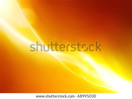Vector illustration of futuristic orange abstract glowing background - stock vector