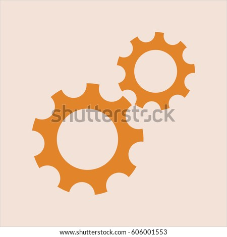 Vector illustration of Gear (Team work) icon