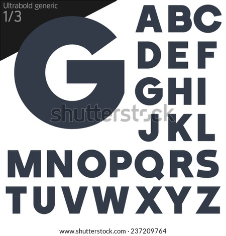 Vector illustration of generic font. Bold style - stock vector