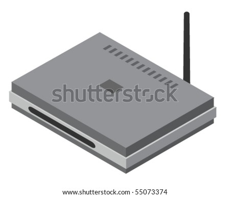Vector illustration of generic router - stock vector