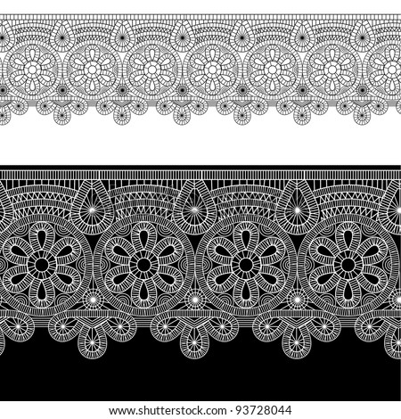 vector illustration of gentle lace