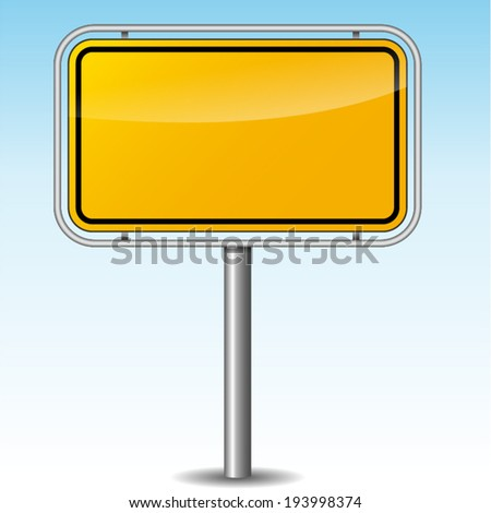 Vector illustration of german roadsign on sky background - stock vector
