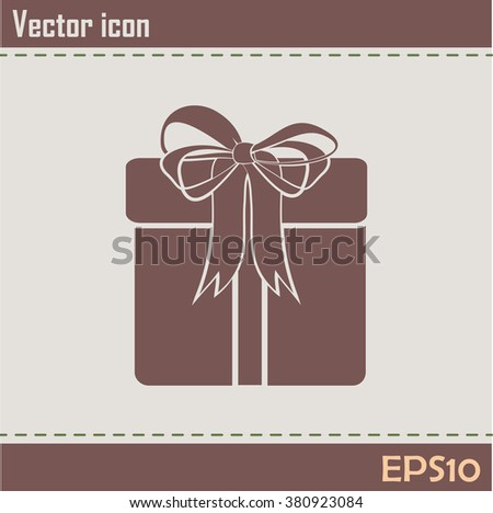 Vector illustration of gift box