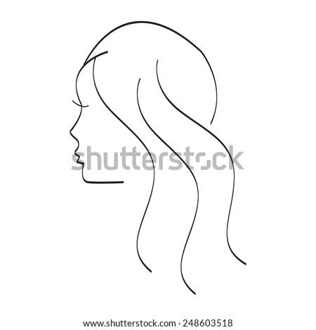 Vector illustration of Girl. Silhouette. - stock vector