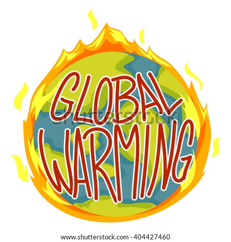 Vector Illustration of Global Warming Concept - stock vector
