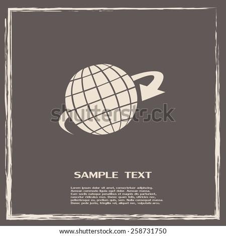 Vector illustration of globe  - stock vector
