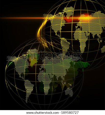 Vector illustration of globe abstract  background