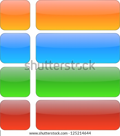 Vector illustration of glossy buttons. Eps10. - stock vector