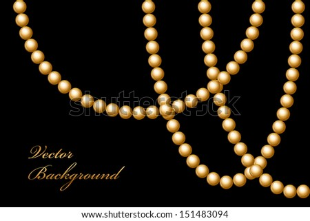 Vector illustration of gold beads - stock vector