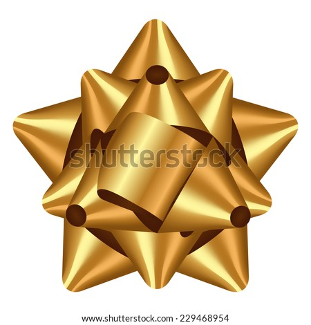 Vector illustration of gold bow - stock vector