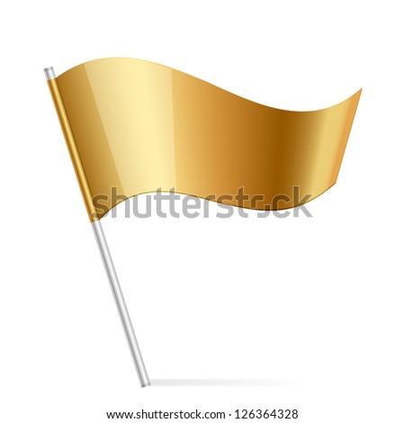 Vector illustration of gold flag - stock vector