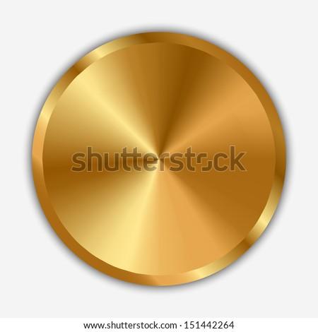 Vector illustration of gold knob - stock vector