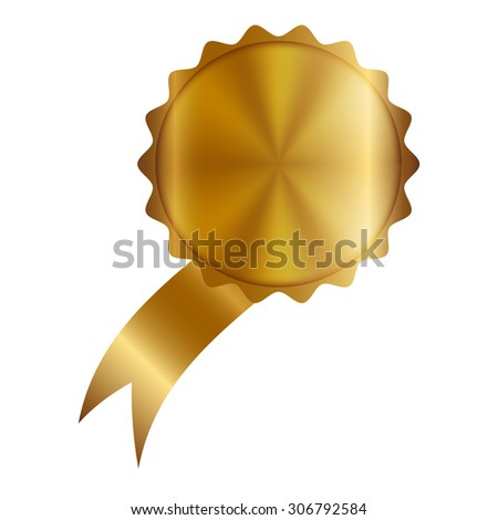 Vector illustration of Gold Label - stock vector