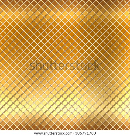 Vector illustration of gold mosaic background - stock vector