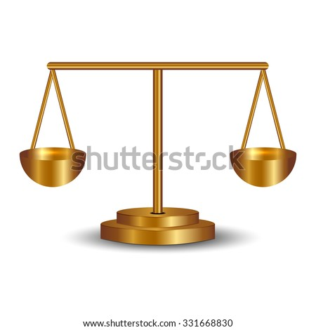 Vector illustration of Gold scales - stock vector