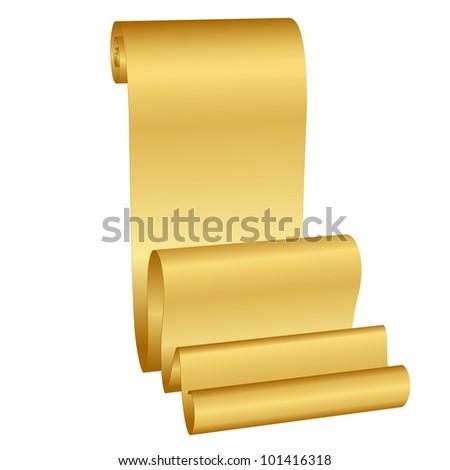 Vector illustration of gold scroll - stock vector