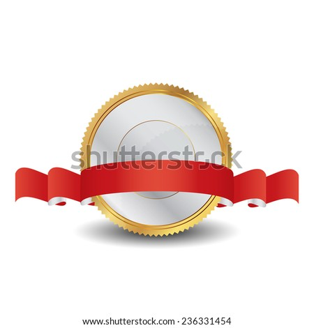 Vector illustration of gold seal - stock vector