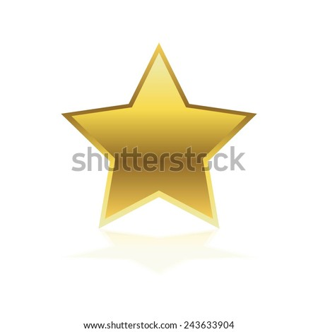 Vector illustration of Gold star. - stock vector