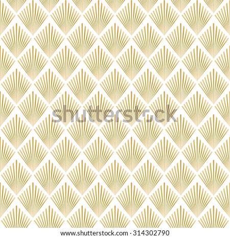 Art deco patterns gold