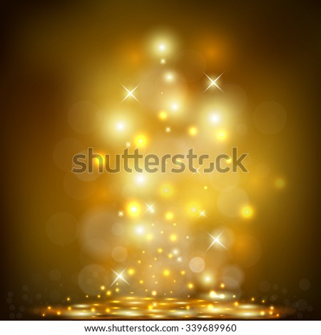 Vector illustration of Golden Holiday Background  - stock vector