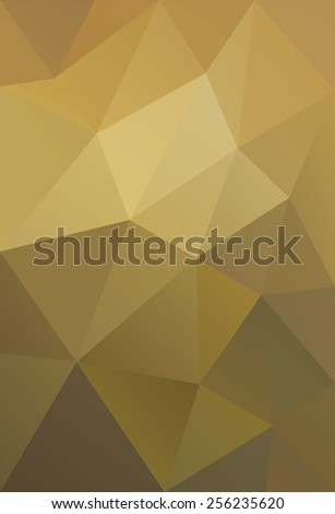 Vector Illustration of Golden Low Poly Background - stock vector