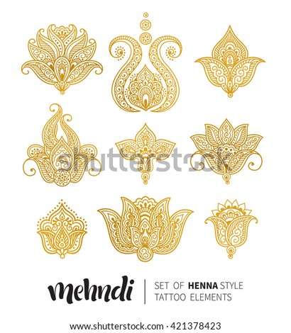 Henna Flower Stock Images Royalty Free Images Amp Vectors