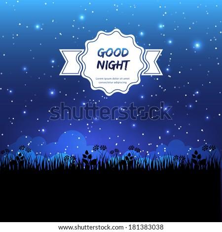 Vector illustration of Good night design - stock vector