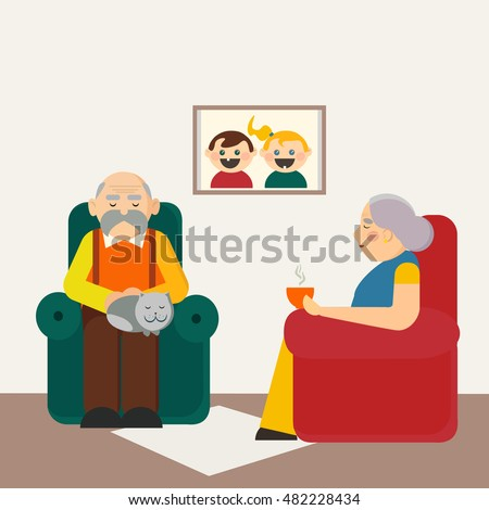 Grandfather Sleeping Stock Photos Royalty Free Images