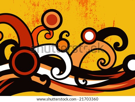 Vector illustration of grange dance party invitation abstract background - stock vector
