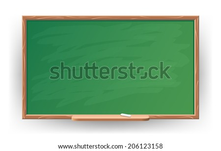 vector illustration of green blackboard - stock vector