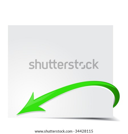 Vector illustration of green print arrows text background