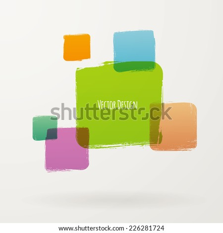 Vector illustration of Grunge set frames - stock vector