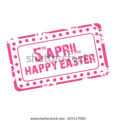 Vector illustration of  grungy stamp for Happy Easter.