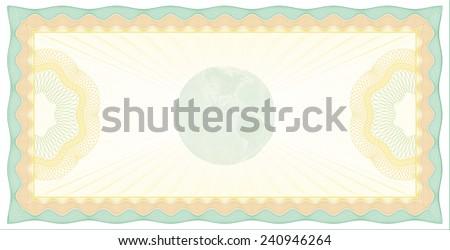 Vector Illustration of Guilloche Check Background - stock vector