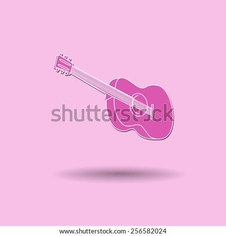 Vector illustration of  Guitar color background. - stock vector