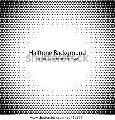 Vector Illustration of Halftone Grange for Design, Website, Background, Banner. PopArt Dots Element Template for Retro Style Wallpaper. Black and White - stock vector