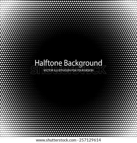 Vector Illustration of Halftone Grange for Design, Website, Background, Banner. PopArt Dots Element Template for Retro Style Wallpaper. Black and White - stock vector