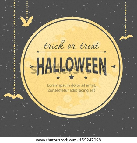 Vector illustration of Halloween invitation - stock vector
