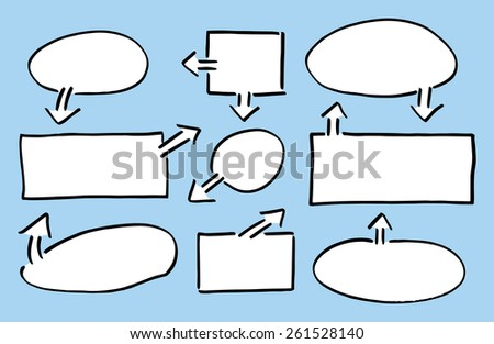 vector illustration of hand drawn design infographic elements  - stock vector