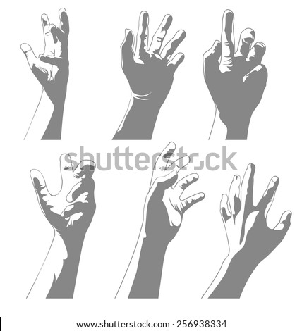 Vector illustration of hand set - stock vector