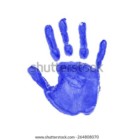 Vector illustration of handprints - stock vector