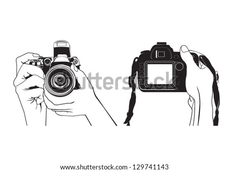 Vector illustration of hands photography