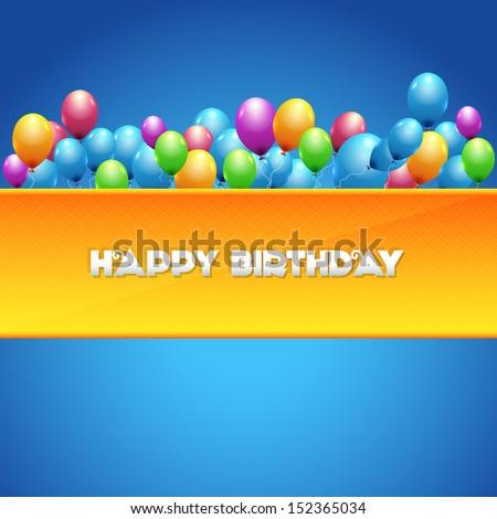 Vector Illustration of Happy Birthday Design - stock vector